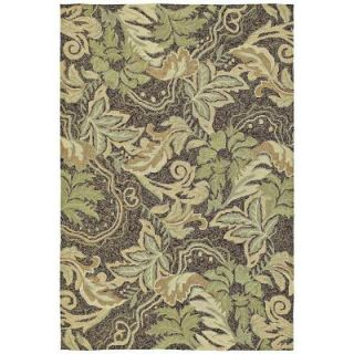 Kaleen Home and Porch Bluff Coffee 7 ft. 6 in. x 9 ft. Indoor/Outdoor Area Rug 2012 51 7.6x9