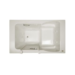 Jacuzzi Finestra Oyster Acrylic Rectangular Walk in Whirlpool Tub (Common: 36 in x 60 in; Actual: 38.5 in x 36 in x 60 in)