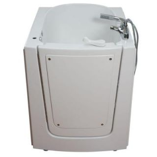 Ella Front Entry 2.75 ft. x 38 in. Walk In Air Massage Bathtub in White with Left Hinge Outswing Door 313702L