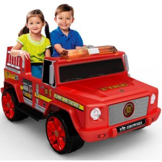 Kid Motorz Two Seater Fire Engine Battery Powered Riding Toy