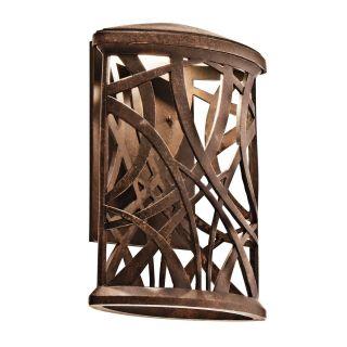 Kichler Lighting 49248AGZLED Maya Palm Bronze LED Outdoor Wall Bracket