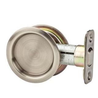 Kwikset Round Satin Nickel Hall/Closet Pocket Door Lock ZZ334 15 CP RND PCKT DR