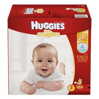Huggies Little Snugglers Size 2 Baby Diapers   186 Count    Kimberly Clark Corp.