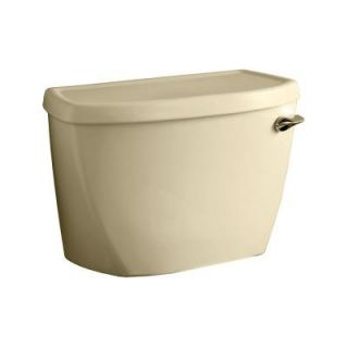 American Standard Yorkville Pressure Assisted 1.6 GPF Single Flush Toilet Tank Only with Right Hand Trip Lever in Bone 4142800.021