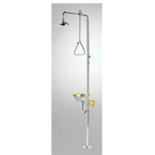 Speakman SE 625 SS Safe T Zone Stainless Steel Combination Shower with SE 490 Eye Face Wash and Drench Shower