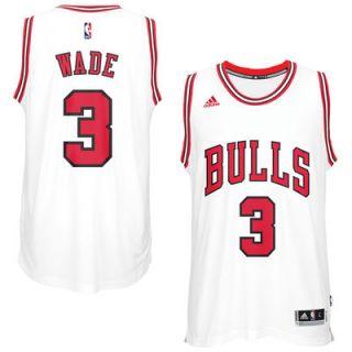 Dwyane Wade Chicago Bulls adidas Swingman Jersey   White