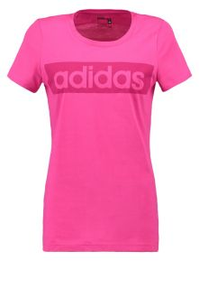 adidas Performance ESSENTIALS LINEAR   Print T shirt   eqt pink
