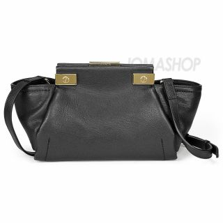 Lanvin Trilogy Goatskin and Calfskin Mini Black Tote Handbag