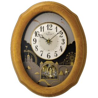 Rhythm U.S.A Inc Timecracker Golden Wall Clock