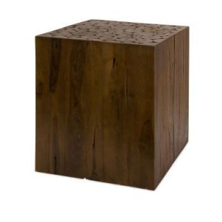 Filament Design Lenor 17.75 in. Wood Side Table in Brown 51376