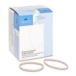 Sparco Pure Rubber Bands Size 32 3 Length x 0.12 Width 30 mil Thickness Sustainable 237  Box Natural