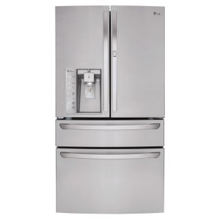 LG 29.7 cu ft 4 Door French Door Refrigerator with Single Ice Maker and Door within Door (Stainless Steel) ENERGY STAR