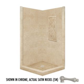American Bath Factory 86 in H x 36 in W x 36 in L Basic Medium Sistine Stone Square Corner Shower Kit