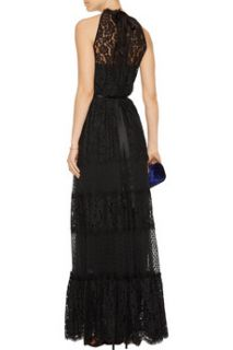 Constance satin trimmed lace gown  Temperley London