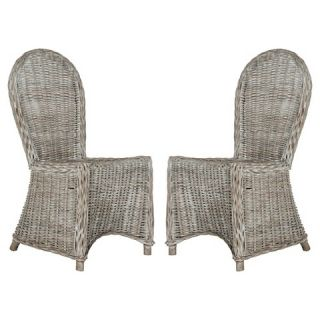 Idola Wicker Dining Chair   White Washed (Set of 2)   Safavieh