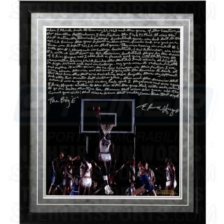 Elvin Hayes Facsimile  Being Big E Framed Metallic 16x20 Story Photo
