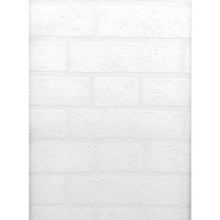 Brewster 56.4 sq. ft. Belden Brick Texture Paintable Wallpaper 497 99423