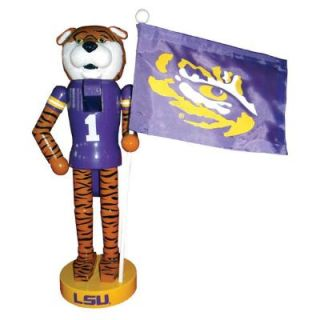 Santa's Workshop 12 in. LSU Mascot Nutcracker with Flag LAT092