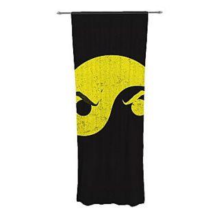 KESS InHouse Yin Yang Ninja Curtain Panels (Set of 2)