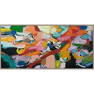 PTM Images Brush of Color Abstract Gicl e Framed Painting Print