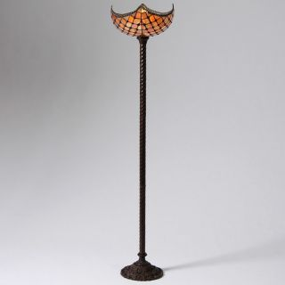 Warehouse of Tiffany Amber 72 Torchiere Floor Lamp