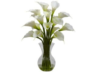 Nearly Natural Galla Calla Lily w/Vase Arrangement