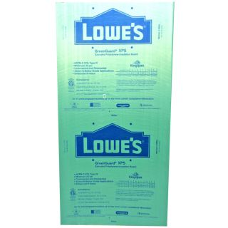 Extruded Polystyrene Foam Board Insulation (Common 1 5 in x 2 ft x 8