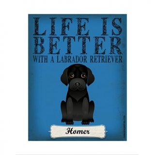 Personal Creations Life is Always Better Dog Breed Art   Black Lab   7469658