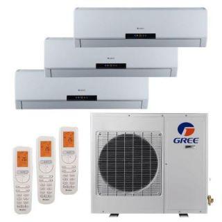 GREE Multi 21 Zone 36,000 BTU 3.0 Ton Ductless Mini Split Air Conditioner with Heat, Inverter, Remote   208 230 Volt/60Hz MULTI36HP303