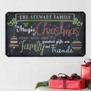 Personal Creations Personalized Christmas Never Ends Metal Sign   7928044