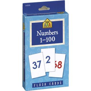 School Zone 1 100 Numbers Flash Cards    School Zone