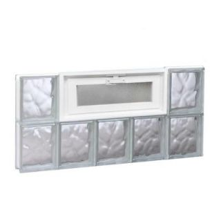 Clearly Secure 28.75 in. x 15.5 in. x 3.125 in. Vented Wave Pattern Glass Block Window 3016VDC