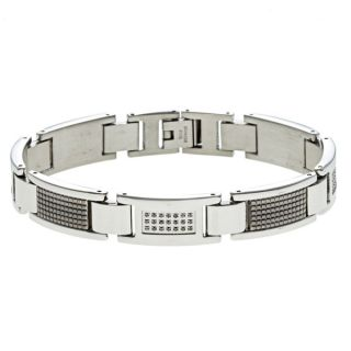Luxurman 14k Gold Mens 2ct TDW Diamond Mens Link Bracelet (H I, SI1