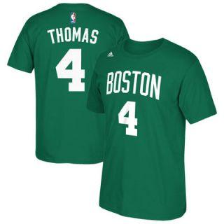 Isaiah Thomas Boston Celtics adidas Net Number T Shirt   Kelly Green