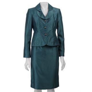 Larry Levine Womens Three button Shantung Skirt Suit   12194175