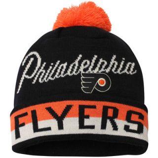 Philadelphia Flyers CCM Youth Vintage Retro Cuffed Hat with Pom – Black