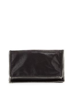 Stella McCartney Falabella Fold Over Evening Clutch Bag, Black