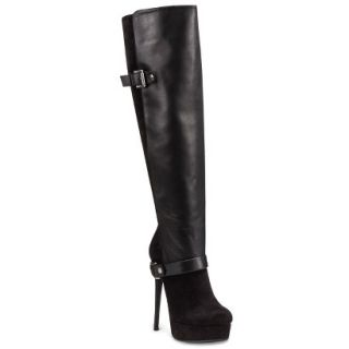 Laundry List® Womens Stretch Over the Knee Platform Heeled Boots