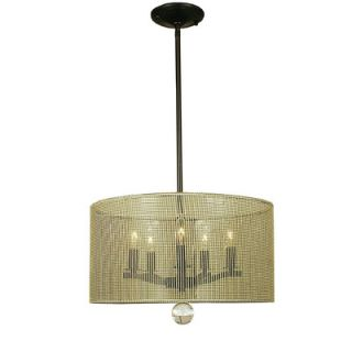 Simone 5 Light Drum Pendant by Framburg